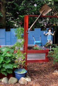 salvaged the 32 shutter challenge repurposing shutters in the garden, gardening, outdoor living, raised garden beds, repurposing upcycling, The Shutter Garden