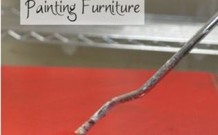 the trick to avoiding roller marks when painting, painted furniture