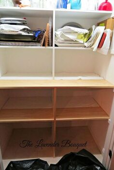diy pantry shelving extensions, closet, diy, shelving ideas, storage ideas, woodworking projects