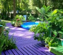 purple paradise, decks, home decor, outdoor living, painting, porches, My Purple Porch Paradise