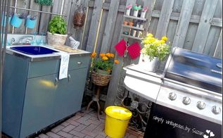 kitchenette makeover outdoor upcycle, decks, outdoor furniture, outdoor living
