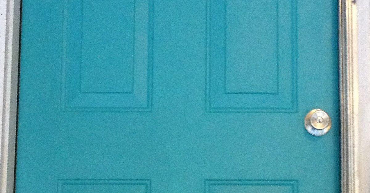 How Do I Glaze Or Distress My Turquoise Door Hometalk