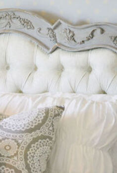headboard makeover fabric chalk paint, chalk paint, painted furniture