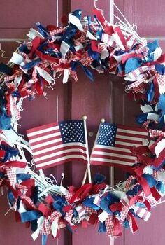 wreath patriotic diy july fourth, crafts, patriotic decor ideas, seasonal holiday decor, wreaths