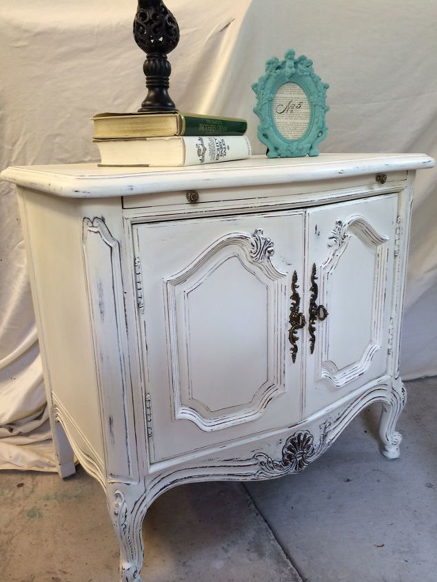 shabby chic side table hometalk