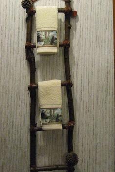 hand made towel racks, home decor, repurposing upcycling, Hand made Towel Racks