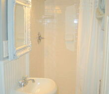 teeny tiny master bath renovation, bathroom ideas, home decor, painting, woodworking projects, See what I mean by TINY Doesn t mean you have to skimp on style