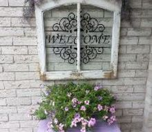 outdoor decor windowpane upcycle, home improvement