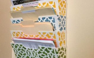 stencils magazine rack makeover, crafts, how to, shelving ideas