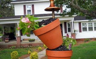 flowered bird feeder, flowers, gardening, outdoor living, Close up view of bird feeder