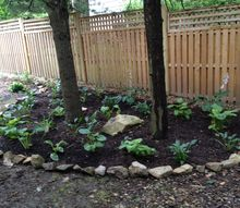i finally got the hosta in now the rest of mess oh well a little at a time, gardening