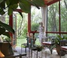 q has anyone needed a solution for protecting metal furniture from the elements in an, curb appeal, outdoor furniture, outdoor living, porches, the showhouse porch that inspired her