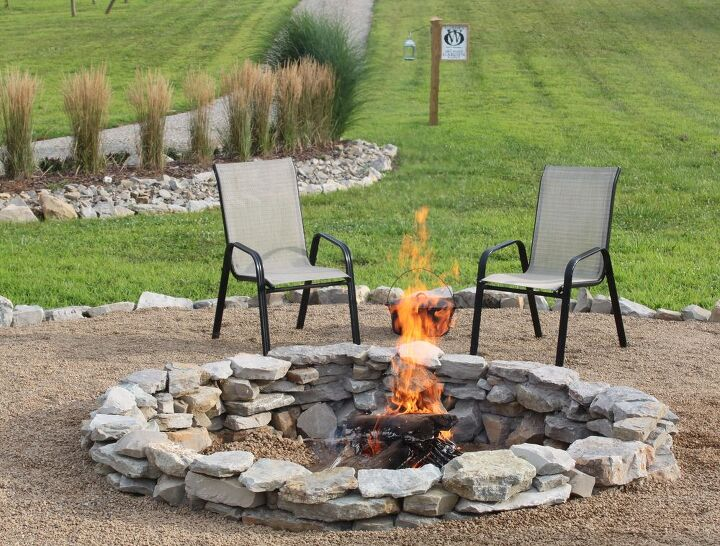 Budget stone fire pit project hometalk for Fire pit project