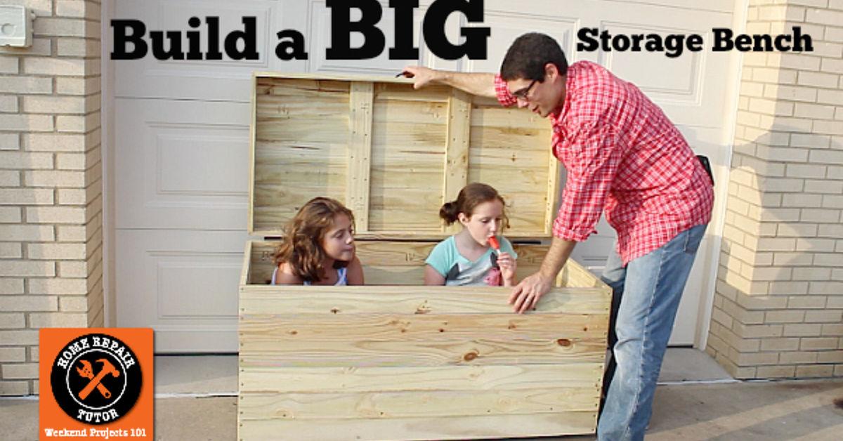Build A Big Outdoor Storage Bench Hometalk