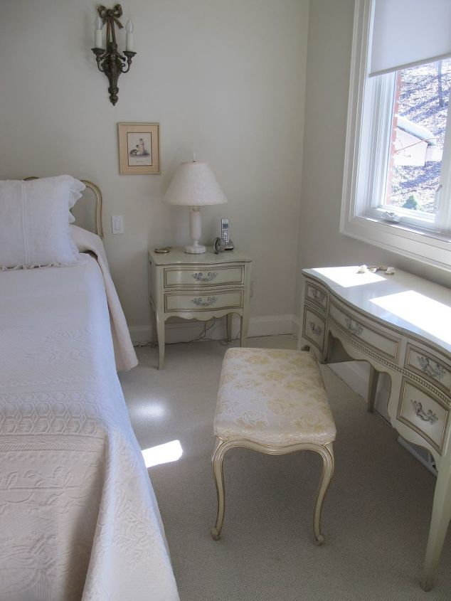French inspired master bedroom and dressing room for Bed dressing ideas