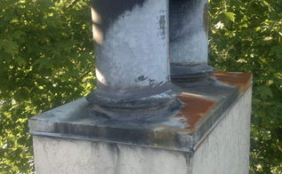 q soot or creosote on chimney exterior, cleaning tips, home maintenance repairs