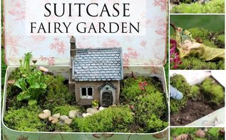 fairy garden suit case tutorial, gardening, repurposing upcycling