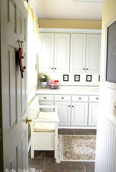 my mudroom laundry room makeover with newly installed chair rail and bead board and, home decor, laundry rooms, Mudroom Laundry Room Makeover