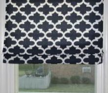 diy faux roman shade mini blind, home decor, window treatments, windows