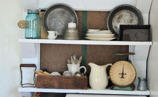 new use for an old door, doors, home decor, pallet, shelving ideas, storage ideas, All filled up with vintage goodies