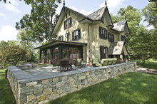 historic renovation in west chester pa, architecture, home decor, patio, New hardscaped patio
