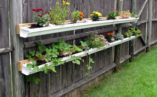 garden ideas gutter upcycle backyard update, gardening