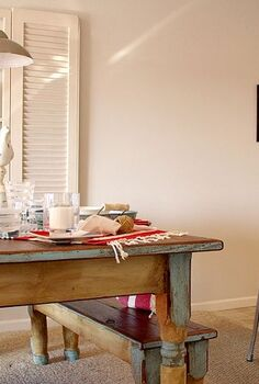 lakeside retreat, home decor, living room ideas, A farmhouse table