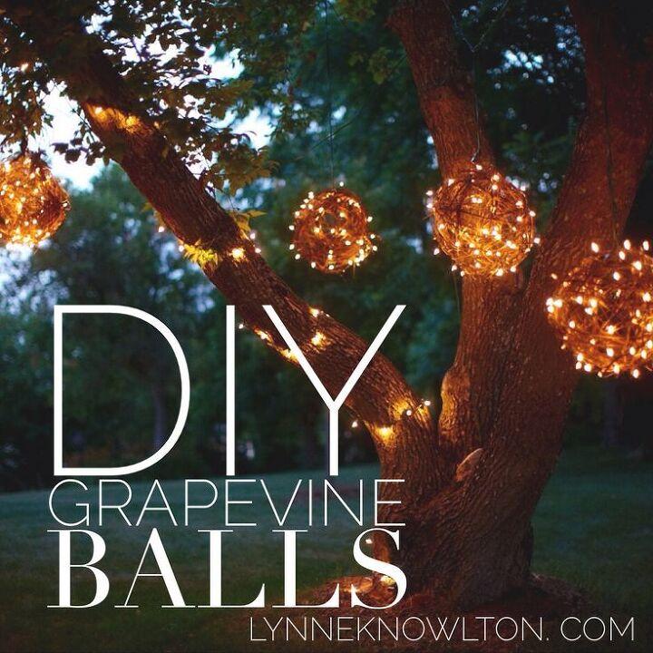 Diy Outdoor Lighting Balls Grapevine Crafts Lighting Repurposing Upcycling