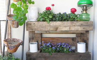 pallet wall garden balconies small, diy, gardening, pallet, repurposing upcycling, woodworking projects