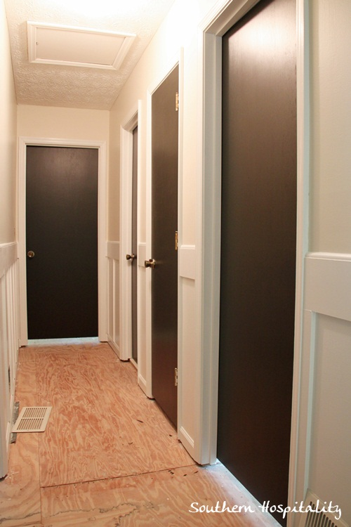 Painting interior doors dark brown black hometalk for Black interior paint
