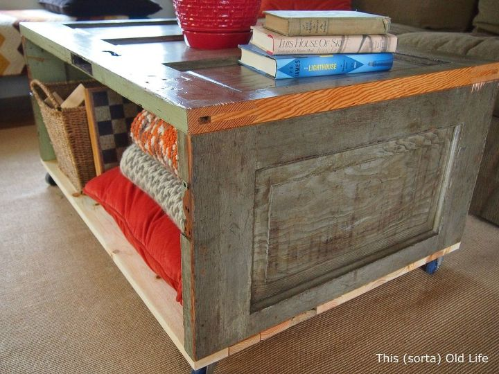 Salvaged Door Coffee Table Storage Bench Hometalk