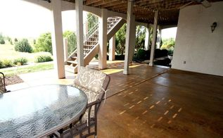 staining a concrete patio, concrete masonry, flooring, patio
