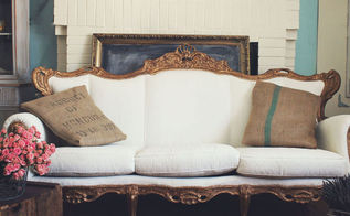 how to paint upholstery fabric, how to, painted furniture, reupholster