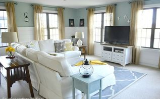 coastal cottage family for four generations living under one roof diy console wide, home decor, living room ideas, Our newly finished coastal cottage family room multipurpose room