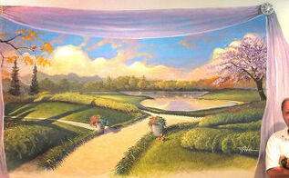 bedroom mural by hahn, painting, Lavender Afternoon Mural
