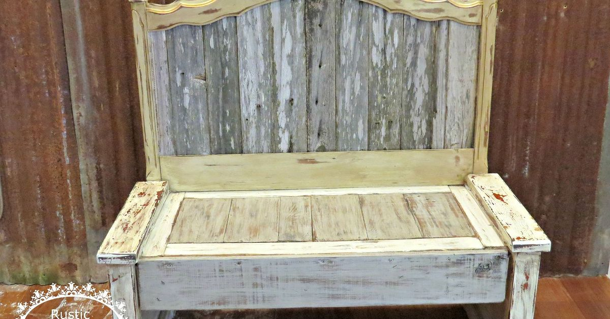 Rustic Bench From Headboard And Old Fence Hometalk