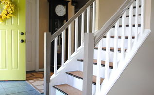 before and after staircase makeover, home decor, painting, stairs, Final Stair Reveal