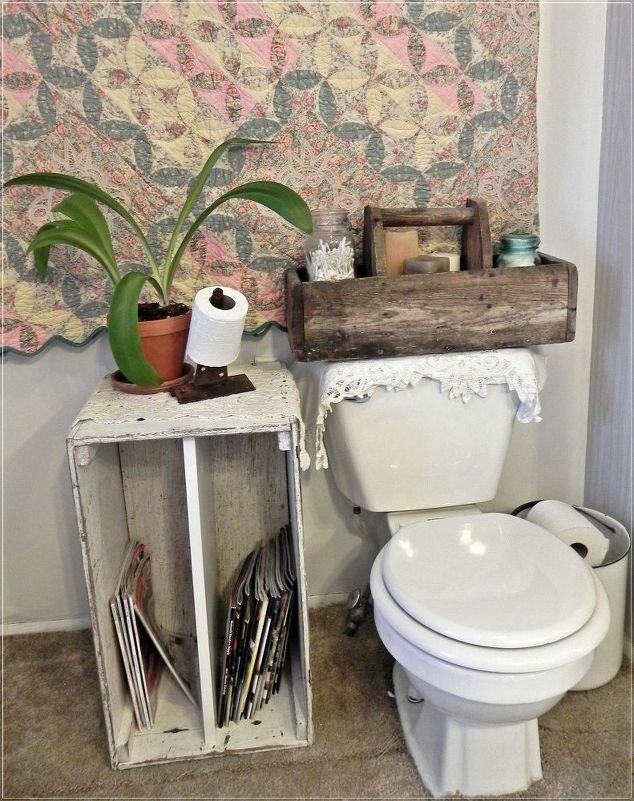 Repurposed vintage bathroom hometalk for Vintage bathroom ideas pinterest