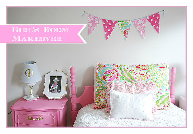 Girl 39 s room in pink white gold decor hometalk for Ideas to paint a girls bedroom