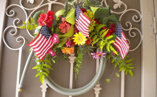 old garden hose wreath, crafts, flowers, gardening, wreaths, Repurpose an old garden hose into a front door wreath So very easy Flowers can be changed out as the season progresses