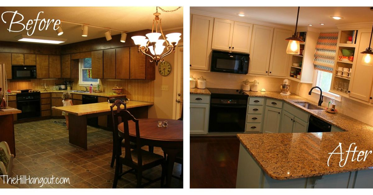 Kitchen renovation before after hometalk for Kitchen reno design