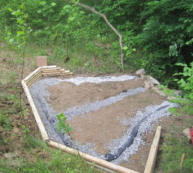 Creating A Creek Stone Patio Amp Fire Pit, Concrete Masonry, Outdoor  Living, Patio