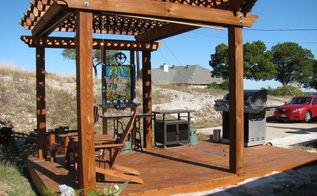 outdoor sitting area, decks, outdoor living, ponds water features, deck and pergola
