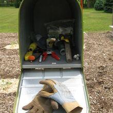 garden mailbox toolshed, gardening, tools, Mailbox garden shed