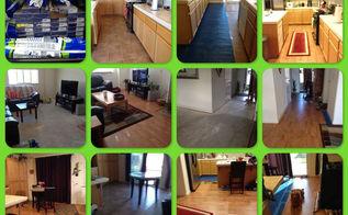before amp after diy laminate flooring, flooring