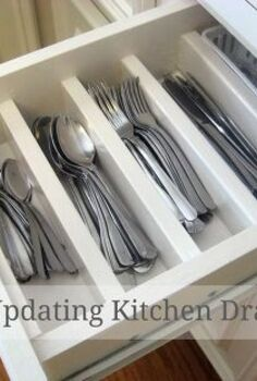 diy updating old kitchen drawers, diy, how to, organizing, woodworking projects