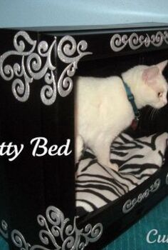 repurposing an old tv new kitty bed, pets animals, repurposing upcycling