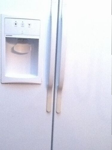 how to clean yellowing refrigerator door handles