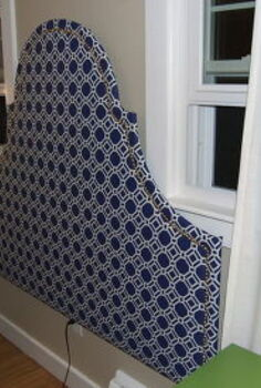 diy fabric headboard, bedroom ideas, crafts, home decor, Just push the bed up against it