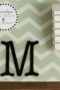 monogrammed personalized desk blotter, crafts, home office